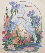 Dimensions élégant AIGRETTES point de croix kit Fleurs Oiseaux Lily marre ♥