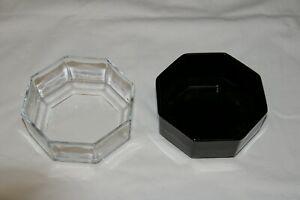 Kompottschalen 2 st schwarz Transparent