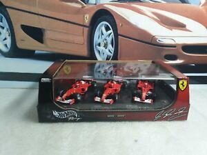 HOTWHEELS MODELS  /F1 - FERRARI SET 2000 - 2002 SCHUMACHER- 1/43 SCALE MODEL CAR