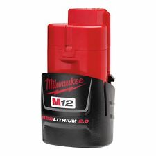 New For Milwaukee 48-11-2420 M12 12V 2.0Ah 24Wh Red Li-on Battery Pack
