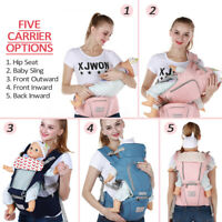 Ergonomic Infant Baby Carrier W/ Hip Seat Adjustable Wrap Sling Newborn Backpack