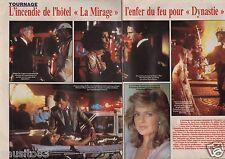 Coupure de presse Clipping 1986 Dynastie l incendie de l'hotel Mirage (2 pages)