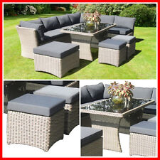 Wicker 5 Piece Outdoor Furniture Set Table Corner Lounge Setting Garden