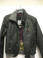 SUPERDRY WOMENS MOODY NORSE BOMBER JACKET S SMALL PADDED WINTER INSULATED-CHI