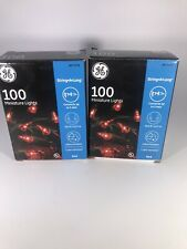 GE 100 Count Red Christmas Lights Lot Of 2