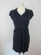 French Connection Damen Kleid Sommerkleid Gr.38 Dunkelblau Kurzarm Summer Dress