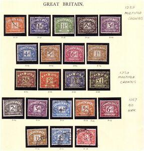 GB 1959 & 1968 Postage Due Sets,  Fine Used.
