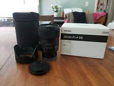 Sigma 35mm F/1.4 DG HSM Art Lens for Sony E 340965