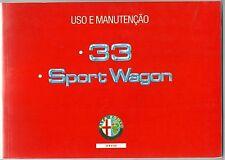 1992 ALFA ROMEO 33 - SPORT WAGON-1300-1400-1500-1700 uso e manutenção português