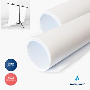 White PVC Vinyl Photography Backdrop - Product Photos Studio Background 2m x1m