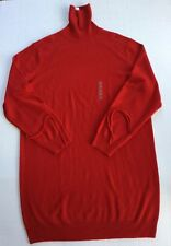 Uniqlo J.W. Anderson Cashmere Knit Sweater Dress Size Medium Red