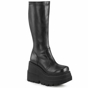 SHAKER-65  Black Stretch Vegan Leather