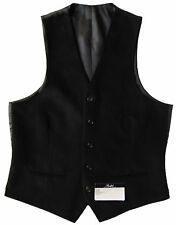 Men's RALPH LAUREN Black Velvet Suit Dress Vest 42L 42 Long NWT NEW
