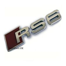RS6 Badge Emblem Decal Sticker Logo A6 S6 RS S Audi boot lid rear trunk tailgate