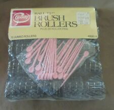 Vintage 10 Goody Jumbo Brush Hair Roller Curlers With 24 Pins-Sealed Package