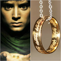 Lord of the Rings Ring Hobbit Frodo Ring, One Ring & Chain UK SELLER Halloween