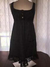 FREE PEOPLE dress lace tweed gray black career/casual wool size 6
