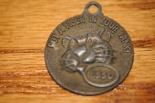 Vintage Esso Put a Tiger in Your Tank! Key Chain Fob Happy Motoring Key Club Old