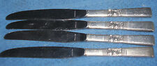 "Set of 4 Vintage Oneida Community "" Morning Star ""  Dinner Knives  9 3/8"""