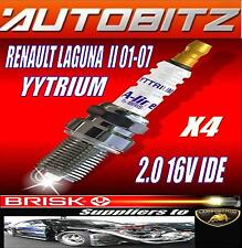 FITS RENAULT LAGUNA 2.0 BRISK SPARK PLUGS X4 YYTRIUM FAST DISPATCH