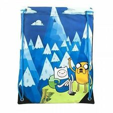 New Officially Licensed Adventure Time Mountain Cinch Drawstring Back Pack Bag