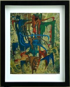 G. Von Der Loo (1911/1996) Gouache - Composition Abstract - Signed Framed