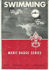 Boy Scout Vintage Swimming Merit Badge Book, Pre 50's