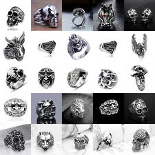 Men's Hot Stainless Steel Skull Rings Metal Gothic Biker Punk 25+ Styles Ring