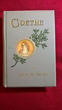 """Altes Buch """"Goethe"""", von Richard M. Meyer, von 1895, 628 Seiten"""
