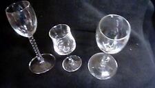 Lot of 3 Barware Cordial Stemmed Glasses