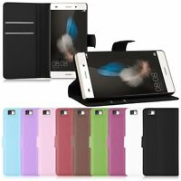 Luxury Flip Leather Wallet Case Cover Pouch Stand For Huawei Ascend P8 / P8 LITE