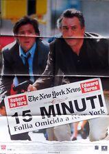 manifesto movie poster 2F 15 MINUTI FOLLIA OMICIDA A NEW YORK DE NIRO CINEMA