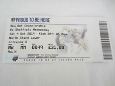 Sheffield Wednesday Championship Home Teams S-Z Football Programmes
