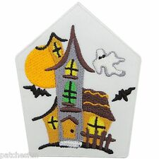 Haunted House Ghost Vampire Ghostbuster Halloween Pumpkin Bat Iron on Patch 1459