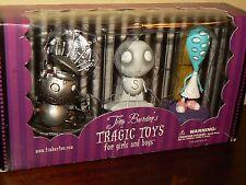 Tim Burtons Tragic Toys Robot Boy Stain Boy Girl With Many Eyes New!