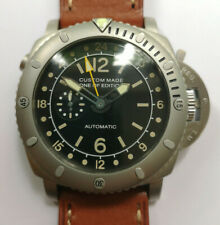 PARNIS PAM GMT Automatik XXL 48mm Armbanduhr Herrenuhr Leder Edelstahl