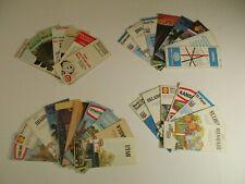 Lot of 32 Texaco Aaa Lion Gousha Conoco Gas Station Road Maps Brochures~Box L7