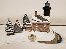 Harbour Lights 707 Old Field Point, Ny Coa, Low #174 Christmas 1998