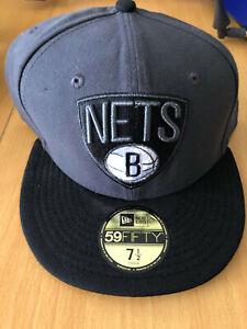 NEW ERA BROOKLYN NETS NBA Hat Cap, size 7 1/2, 59.6cm DAMAGED FREE POSTAGE