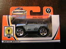 MATCHBOX  MADE IN CHINA  JEEP WILLYS