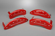 New Brake Caliper Cover Set - Red w Script (2014-2019 C7 Corvette Stingray)