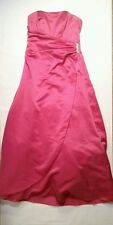 David's Bridal Dress Size 8 36' bust SLEVELESS POLYESTER 8567 Pink 49' long (A8)
