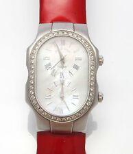 Authentic Estate Philip Stein Women' Large Teslar Diamond Watch Box Extra Bands