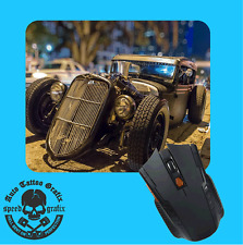 RETRO RAT ROD MOUSEPAD MOUE PAD MOUSE MAT COMPUTER LAPTOP MAKES A COOL GIFT