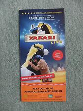 Yakari Musical Flyer für das Musical im Admiralspalast Berlin im August 2016