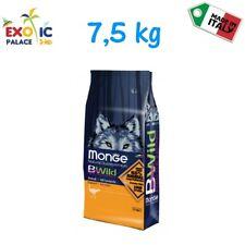 MONGE BWILD ADULT ALL BREED STRUZZO  7,5 KG CROCCHETTE CIBO SECCO PER CANE DOG