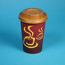 1000 Premium Kaffeebecher Coffee to go Becher 10oz 250ml 0,25l mit Golddeckel