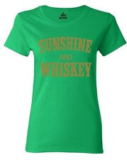 Sunshine and Whiskey Gold Women's T-Shirt Country Girl Southern Shirts