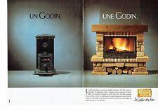 PUBLICITE ADVERTISING 037  1988  Cheminées Godin (2p)