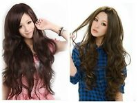Womens Girls Fashion Style Wavy Curly Long Hair Full Wigs Cosplay Synthetic Wigs
